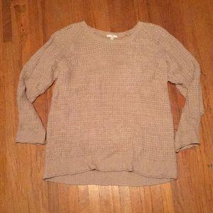 Gap waffle knit sweater in dusty rose tan